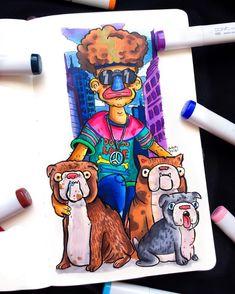 Doodle Art Drawing, Cool Art Drawings, Art Drawings Sketches, Doddle Art, Doodle Characters, Dope Cartoon Art, Simpsons Art, Character Wallpaper, Sketch Ideas