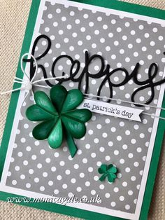 STAMPIN'UP! UK- Top UK Demonstrator Monica Gale-01405 862902-DN14 9QZ: Sweet and Sassy meets Hello You for St. Patrick's Day tomorrow