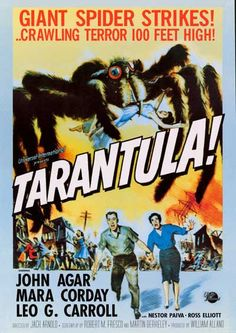 This 1954 sci-fi horror movie is an arachniphobic's nightmare - Tarantula! If you love B-Movies or giant bugs, this poster is right up your alley! Fully licensed. Ships fast. 24x34 inches. Need Poster