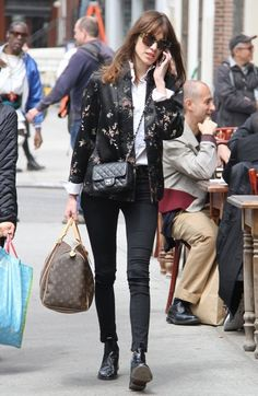 alexastyle:  British model Alexa Chung chats on her cell phone while out and about in New York City, New York on May 6, 2013.