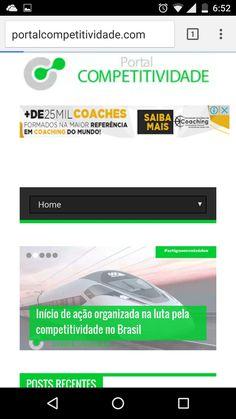 Está no ar... PORTAL COMPETITIVIDADE www.portalcompetitividade.com.br /// Uma nova forma de colaborar para a competitividade do Brasil. Um portal de conhecimento, de discussão e debatido por autoridades que conhecem os problemas brasileiros.  Conteúdo e conhecimento. New Market, Portal, Nova, Marketing, Knowledge, Brazil