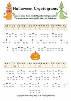 Halloween Cryptograms