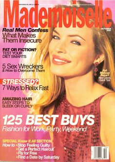 Mademoiselle Fashion Magazine Back Issues Jenny Mccarthy, Mademoiselle Magazine, Esther, Glamour Magazine, Canada, Fall Makeup, Ways To Relax, Vintage Magazines, Real Man