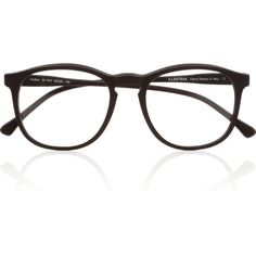 Illesteva Hudson Optical round-frame matte-acetate glasses ($235) ❤ liked on Polyvore featuring accessories, eyewear, eyeglasses, glasses, sunglasses, fillers, black, opticals, acetate glasses and illesteva glasses