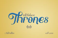 Really excited to introduce Thrones is a bold classic typeface with gorgeous design and makes this font suitable for your any project design.
