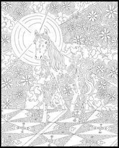 Animals Collection: coloring book pages, coloring pages, lion, horse, frog, flowers, black and white, ink.