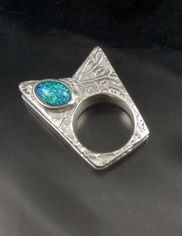 Metal Clay ring and stone setting