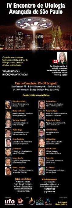 Os conferencistas do IV Encontro de Ufologia Avançada de São Paulo