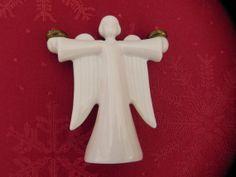 Miniature Porcelain Angel Candleholder by baublesandblingforu, $8.00
