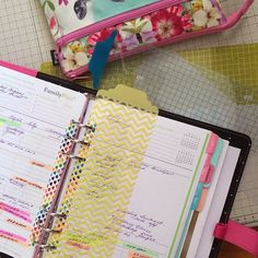 Project life dividers cut down and re-punched to make cute tabs for your planner!