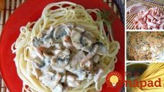 Pasta with mushrooms and ham / Culinary Universe Ham Recipes, Healthy Recipes, Delicious Recipes, Healthy Food, Good Food, Yummy Food, Stuffed Mushrooms, Stuffed Peppers, Mushroom Pasta