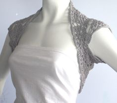 Silver Gray Luxurious Bridal Silk / Cashmere Shrug by WearableArtz, $59.00