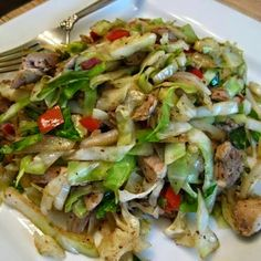 Chicken cabbage stir fry ~ Recipe of today