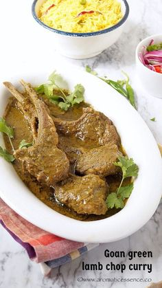 Step-by-step recipe with pictures to make Goan green lamb chop curry. Pictorial recipe to make Goan green lamb chop curry. Goan Recipes, Veg Recipes, Curry Recipes, Indian Food Recipes, Cooking Recipes, Indian Foods, Chicken Recipes, Recipies, Dinner Recipes