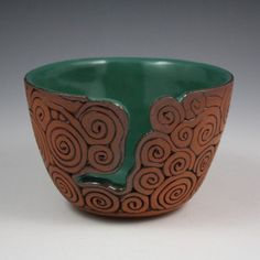 Coil-Built Pottery Yarn Bowl by KulshanClayworks on Etsy