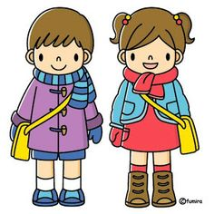 Ready for cold weather Image Clipart, Japanese Drawings, Kawaii Doodles, Animal Coloring Pages, Preschool Art, Stop Motion, Painting For Kids, Coloring For Kids, Cute Illustration