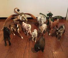 Lot of 11 Schleich Animals Horses Dragon Griffin Pegasus Buffalo | eBay
