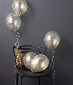 Clear balloons filled with glitter