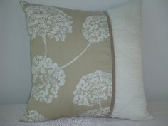 Shimmering Beige Decorative Pillow 15 x 15 by PillowscapeDesigns
