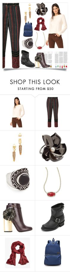 """""""Thanksgiving set"""" by denisee-denisee ❤ liked on Polyvore featuring Pringle of Scotland, Rebecca Minkoff, Elizabeth and James, Aaryah, Kendra Scott, Laurence Dacade, Frye, Brooks Brothers and State"""