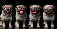 Many faces of Pug! Many Faces, Pugs, French Bulldog, Beige, Dolls, Animals, Store, Check, Baby Dolls