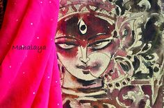 """Mahalaya: Invoking the Mother Goddess""""The Festival season is upon us as tomorrow is Mahalaya! This day heralds the advent of Durga, the Goddess of supreme power.""""    The photo is of a painting of Maa Durga in the blogger's home.  Beautiful."""