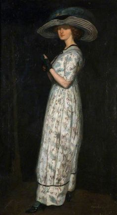 """womeninarthistory: """" The Glad Eye, Dressed for Promenade, John Currie """""""