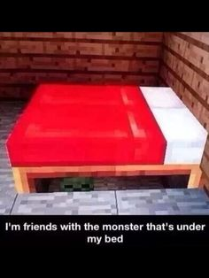 Haha this is quite funny. This is actually in my minecraft house. Somebody should like create this for a haunted house in Minecraft Minecraft Comics, Minecraft Funny, How To Play Minecraft, Minecraft Skins, Minecraft Houses, Minecraft Stuff, Minecraft Secrets, Minecraft Bedroom, Minecraft Crafts