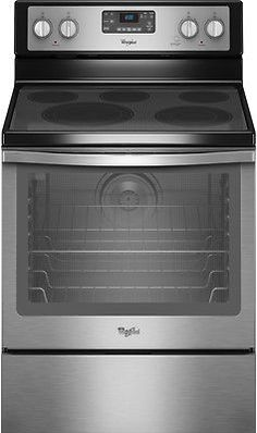 Whirlpool Wfe540h0es 30 Stainless Freestanding Electric Range 7770
