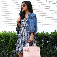 {J. Crew}  Gingham Bow Back Dress J. Crew Gingham Bubble Dress ••• 100% cotton Perfect condition Size 0 ~~~ This jcrew dress is so gorgeous for spring and summer!  It features a self tie bow back and a gorgeous gingham print.  Vegan Friendly  J. Crew Dresses Mini
