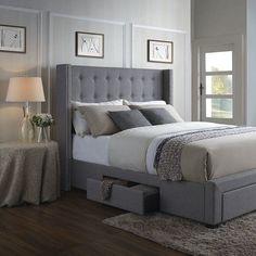 Savoy Upholstered Storage Platform Bed