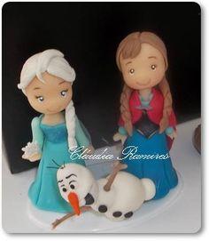 Topo de Bolo: tema Frozen www.claudiaramires.loja2.com.br