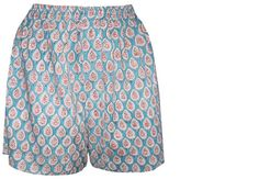 Printed Boxer Shorts, cotton, ethical men's wear. Hand made in India by Anokhi for Chandni Chowk - accacia.