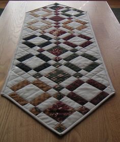 Quilted Patchwork Table Runner by CentralFabrications on Etsy, $22.00