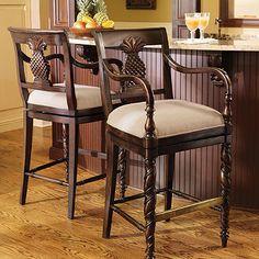 Pineapple bar stools!