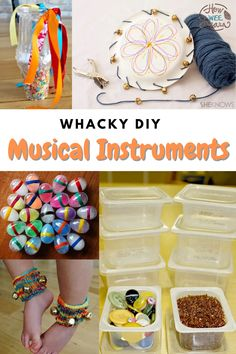 DIY musical instruments for kids to make! These homemade musical instruments are perfect for preschoolers to make and great for big kids too. These are the perfect activities for a rainy day! Creative Activities For Kids, Diy Projects For Kids, Kids Learning Activities, Arts And Crafts Projects, Skills To Learn, Life Skills, Cute Crafts, Crafts For Kids, Homemade Musical Instruments
