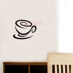 Aliexpress.com : Buy Stickers Cuisine Coffee Cup Vinyl Wall Sticker Mural Wall Art Wallpaper for Kitchen Tile Wall Decal Home Decor Decoration Poster from Reliable wallpaper collection suppliers on Kililaya