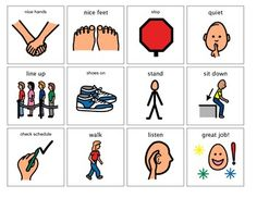 Behavioral Visual Cue Cards- A Special Ed MUST HAVE!