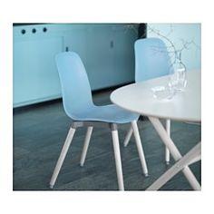 LEIFARNE Eetkamerstoel, lichtblauw, Ernfrid berken - IKEA