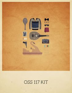 OSS 117 Kit - Movies Hipster Kit, Alizée Lafon / Minimal Movies and series TV Poster Minimal Movie Posters, Minimal Poster, Pulp Fiction, Vintage Movies, Vintage Posters, Big Lebowski, Game Of Thrones, Beloved Movie, Movies And Series