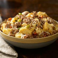 Traditional Italian Sausage Stuffing - This recipe is always a hit and ready in only 40 mins. Johnsonville Italian Sausage, green peppers, pimento- stuffed olives, and sun-dried tomatoes make this perfect for holiday meals! Rigatoni, Slow Cooker Overnight Breakfast, Sausage Soup, Sausage Stuffing, Sausage Jambalaya, Turkey Stuffing, Turkey Gravy, Chicken Sausage, Short Bread