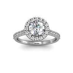 The perfect halo diamond ring. A 1.25 Carat Halo Ring That Looks Like a 2 1/2 Carat Halo Ring. Yep, that's the way we build them, for maximum show so you get the most for your money! Your beautiful so