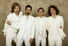 The Killers in all white