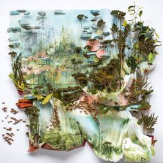 In a fantastic collision of natural and human-made elements, Minneapolis-based artist Gregory Euclide explores aspects of nature, impermenance, and the human experience in unusual relief artworks that seem to grow and drip from vertical surfaces. Some sculptures are framed inside boxes, containe