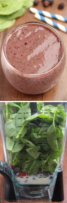 Healthy Smoothie Recipes - Mixed Berry Green Smoothie - Recipe And Tutorial- The Best Healthy Smoothie Recipes Including Tips and Tricks And Recipes For Fresh Fruit Smoothies Breakfast Smoothies And Green Smoothies That Are Super-Healthy. We Also Includ Best Healthy Smoothie Recipe, Healthy Green Smoothies, Fruit Smoothie Recipes, Healthy Protein, Healthy Drinks, Healthy Recipes, Superfood Smoothies, Spinach Berry Smoothie, Mixed Berry Smoothie