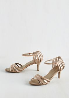 Song and Dance Heel in Ballroom. Whether your specialty is the gavotte or the waltz, youll dazzle as you dance in these metallic heels by Seychelles! #gold #prom #wedding #bridesmaid #bride #modcloth