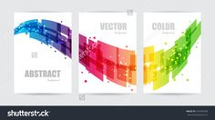 Abstract technology, set business template, design wave
