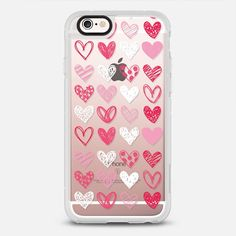 All the Hearts - protective iPhone 6 phone case in Clear and Clear by @rubyridgestudio | @casetify