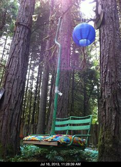 Old Ski lift chair swing!