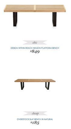 Design Within Reach Nelson Platform Bench